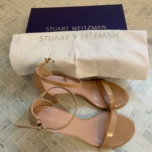 Stuart Weitzman Nearly Nude Sandals Adobe Aniline